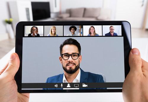 Online-Sprachunterricht mit dem Tablet